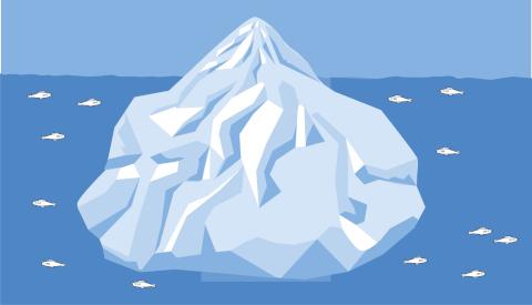 氷山崩壊に伴う津波
