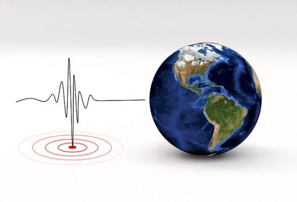 地震の揺れ