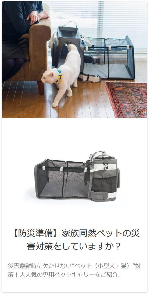 ペット用のキャリーバッグ